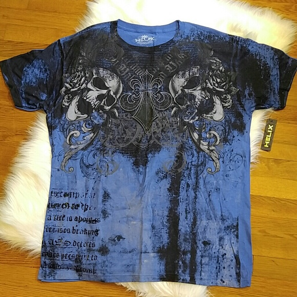 helix shirts nwt mens graphics tee with skulls size xl poshmark